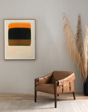 Bauer Leather Chair-Warm Taupe Dakota
