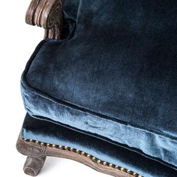 Boutique Accent Chair-Cut Blue Pile