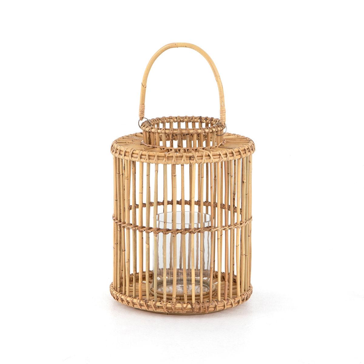 Caraway Small Lantern-Natural Rattan