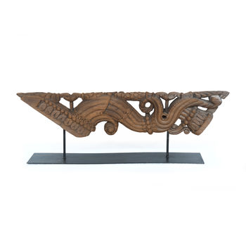 Carving On Metal Stand-Large