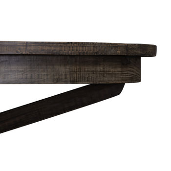 """Extension Table, Modern Rustic Style in Reclaimed Wood in Black Olive 48"""" + leaf"""
