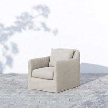 "Outdoor Swivel Chair, Fabric: ""Sand"""