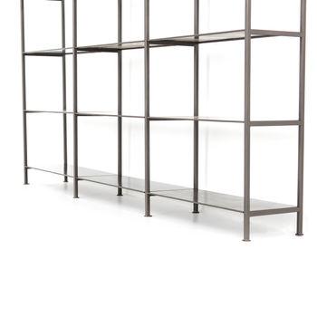 Enloe Modular Triple Bookshelf-Gunmetal