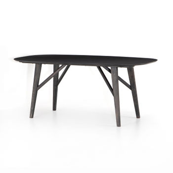 Heath Oval Dining Table-Black Wash