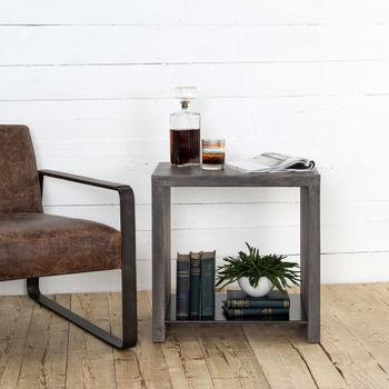 Hugo End Table-Dark Grey