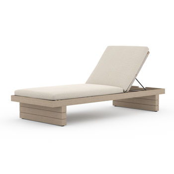 Leroy Outdoor Chaise - Washed Brown