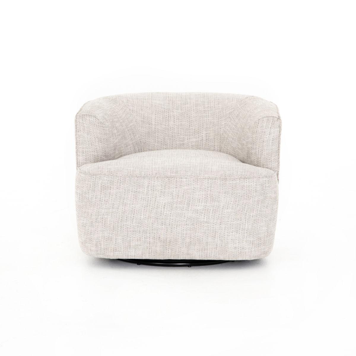 Mila Swivel Chair in Brazos Dove