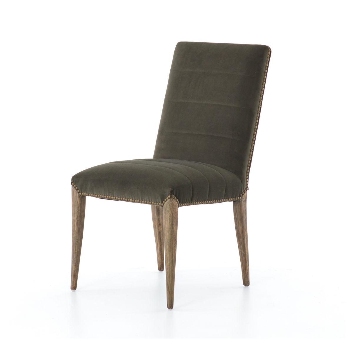 Nate Dining Chair-Modern Velvet Loden