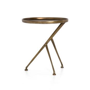 Schmidt Accent Table-Raw Antique Brass