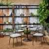 Simone Bistro Table-Antique Rust