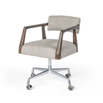 Tyler Desk Chair-Ives White Grey