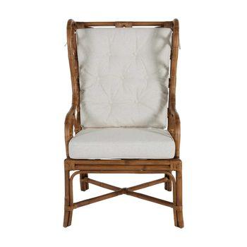 Rattan & Linen Chair