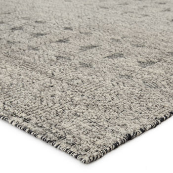 (9'X13') Abelle Hand-Knotted Tribal Gray/ Black Area Rug