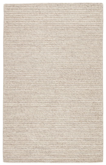 Jaipur Living Grams Handmade Solid Cream/ Light Gray Area Rug (8'X10')