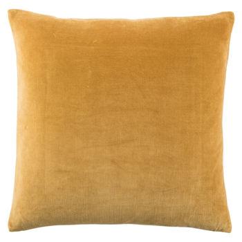 Jaipur Living Hendrix Border Gold/ Cream Poly Throw Pillow 22 Inch
