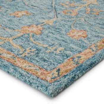 Handmade Oriental Teal & Orange Area Rug (8'X10')