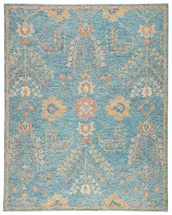 Jaipur Living Juniper Handmade Oriental Teal/ Orange Area Rug (8'X10')