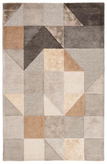 Jaipur Living Penta Handmade Geometric Gray/ Gold Area Rug (9'X13')
