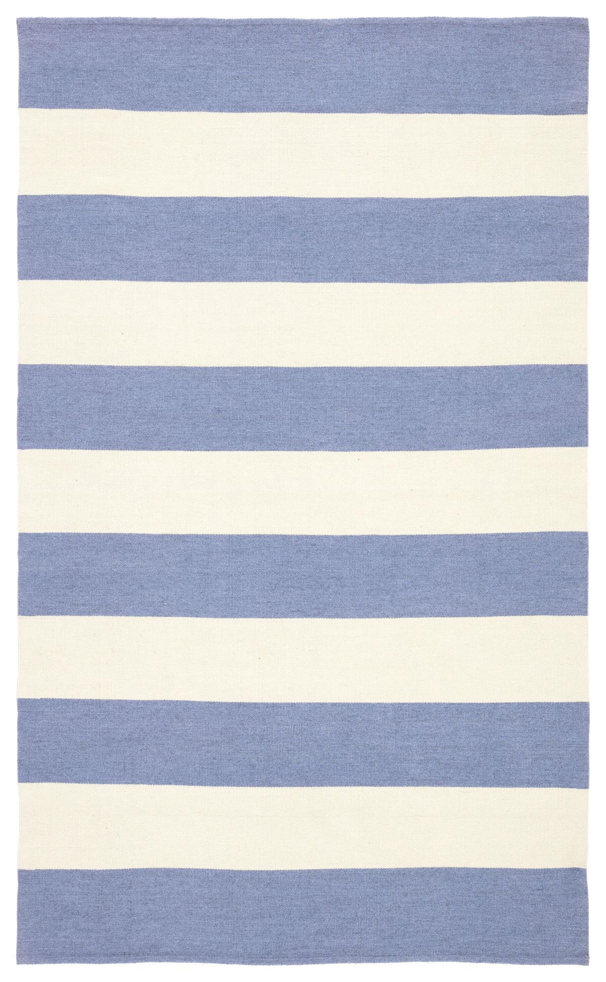 Jaipur Living Remora Indoor/ Outdoor Stripe Blue/ Ivory Area Rug (2'X3')