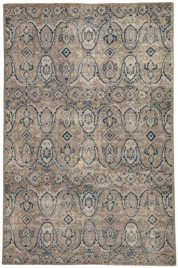 Jaipur Living Williamsburg Hand-Knotted Medallion Gray/ Navy Area Rug (8'X10')