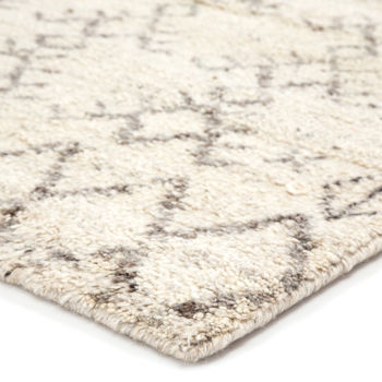 """Jaipur Living Zola Hand-Knotted Geometric Ivory/ Brown Runner Rug (2'6""""X10')"""