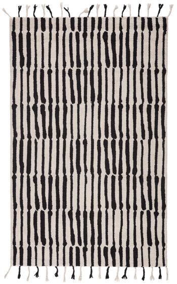Nikki Chu By Jaipur Living Saville Handmade Tribal Black/ Ivory Area Rug (5'X8')