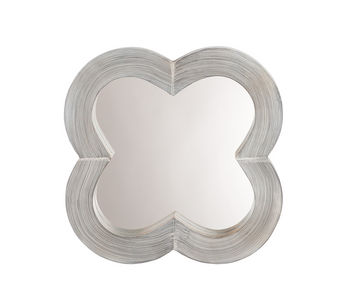 Clover Mirror In Grey Washed Wood
