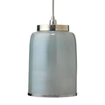 Medium Vapor Pendant In Opal Metallic Glass