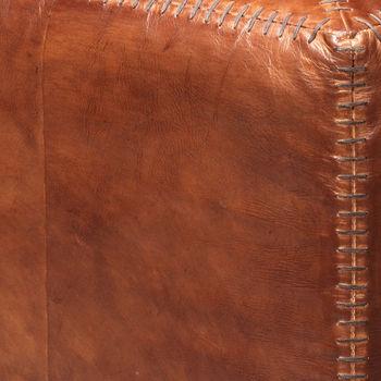 Ottoman Square In Tobacco Leather