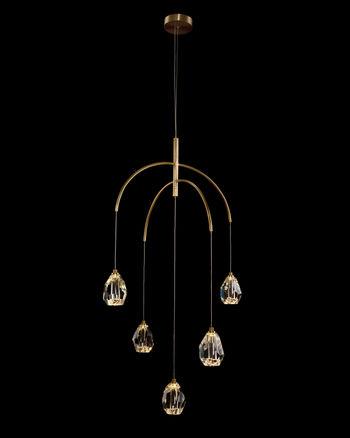 Faceted Crystal Five-Light Chandelier