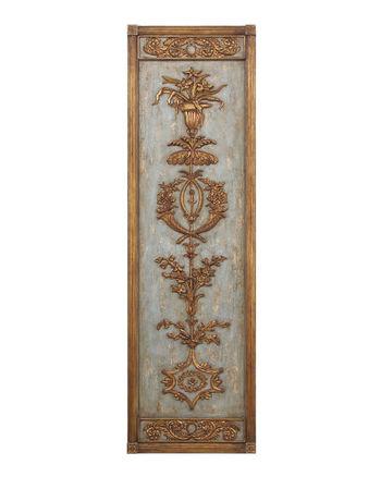 Hand-Carved Wood Panel I