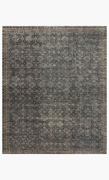 Amm-01 9' X 12' Rug,  Ink / Turquoise