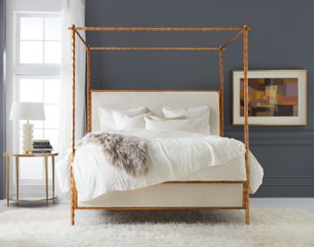 Organic Bed-Gold Leaf-Queen