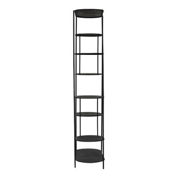 """Bookcase, Modern Architectural Style in Black Iron, 80""""H x 40""""W"""