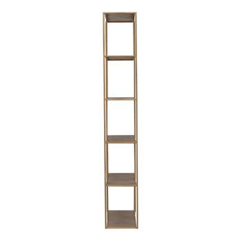 "Bookshelf, Modern Simplicity in GOLDEN Patina Iron, 78""H x 36""W"
