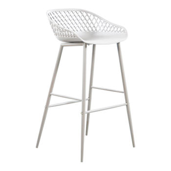 Piazza Outdoor Barstool White (Set of 2)