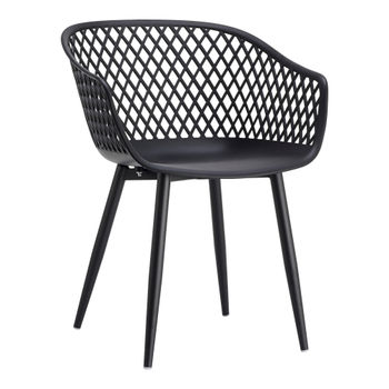 Piazza Outdoor Chair Black (Set of 2)