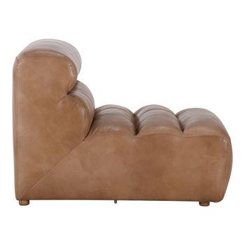 Ramsay Leather Slipper Chair Tan
