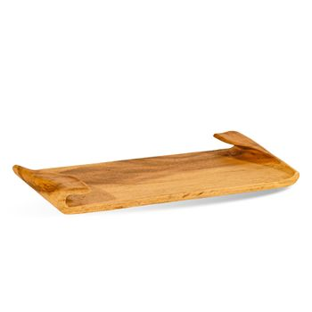 """Wood Tray, 1.5""""H x 8""""W  Beautiful Carved Wood"""