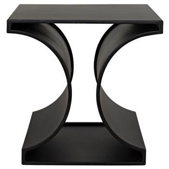 Alec Side Table, Black Metal