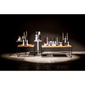 Aleka Decorative Candle Holder, Set/4, A, Black Marble
