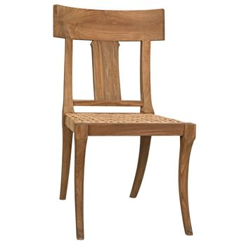 Athena Side Chair, Teak With Caning