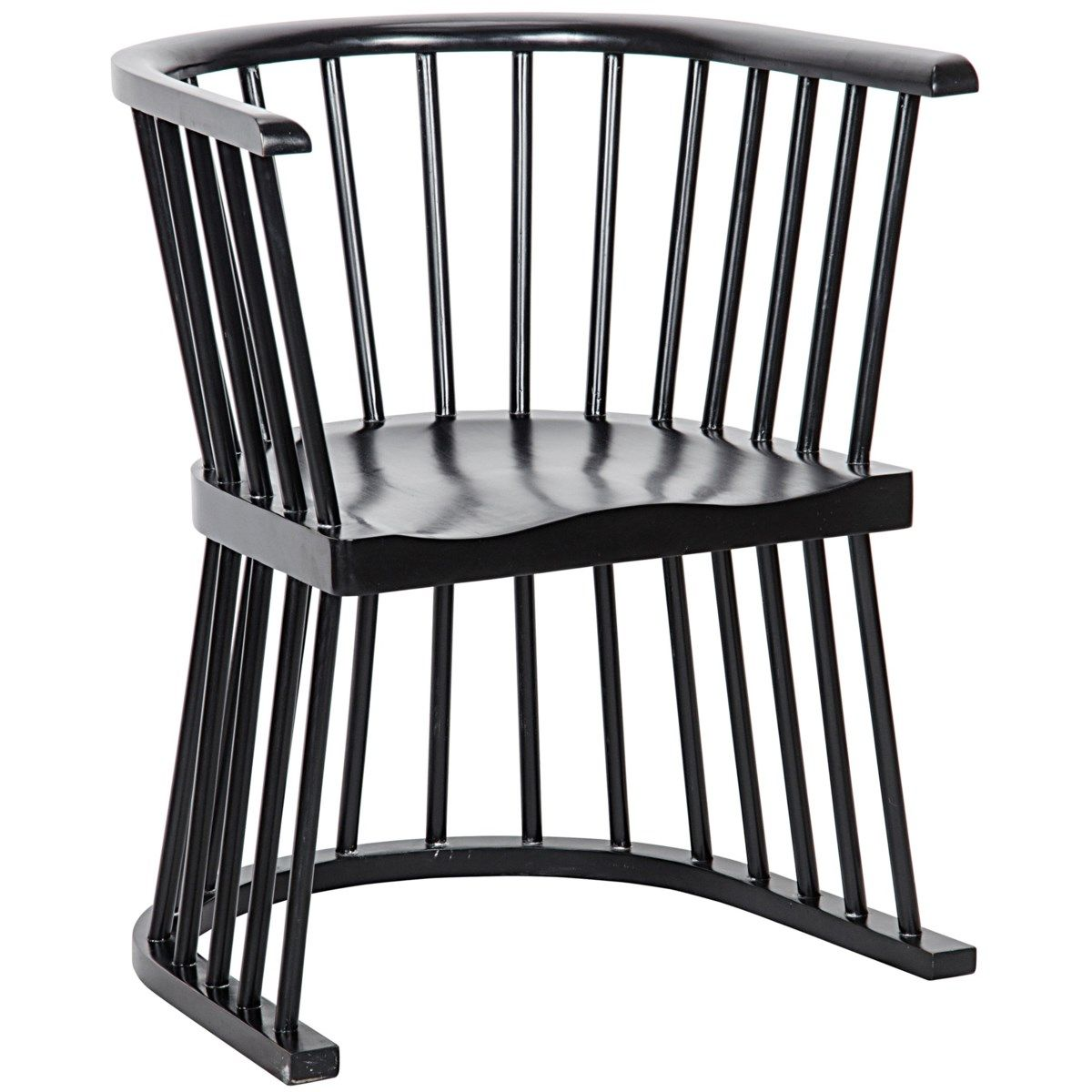 Bolah Chair, Hand Rubbed Black