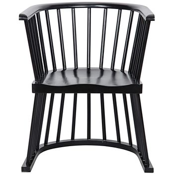 Chair, Hand Rubbed Black Hand Finish Mahogany,