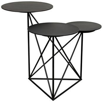 Carrier Side Table, Black Metal