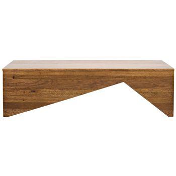 "Coffee Table, Modern Geometric, Dark Walnut,  64""W"
