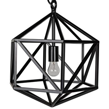 Diamond Pendant, Black Metal, C
