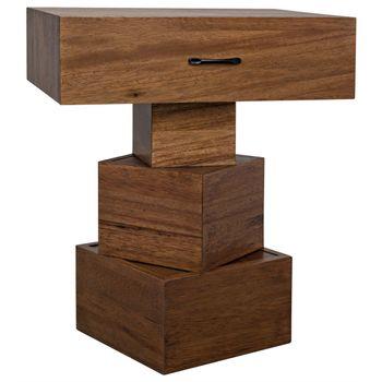 Grobius Side Table, Dark Walnut