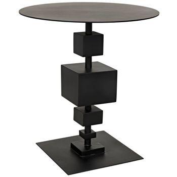 Gropius Side Table, Black Metal