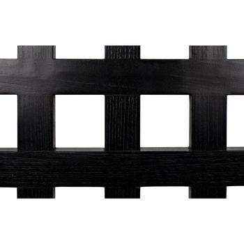 Chair, Charcoal Black Finish Sungkai Wood, Rush Fabric